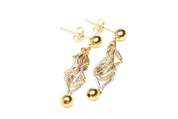 EITA Collection 917 Yellow/White Gold Earring K-02