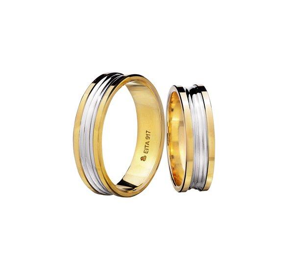 EITA Collection 917 Yellow/White Gold Wedding Ring B2-03