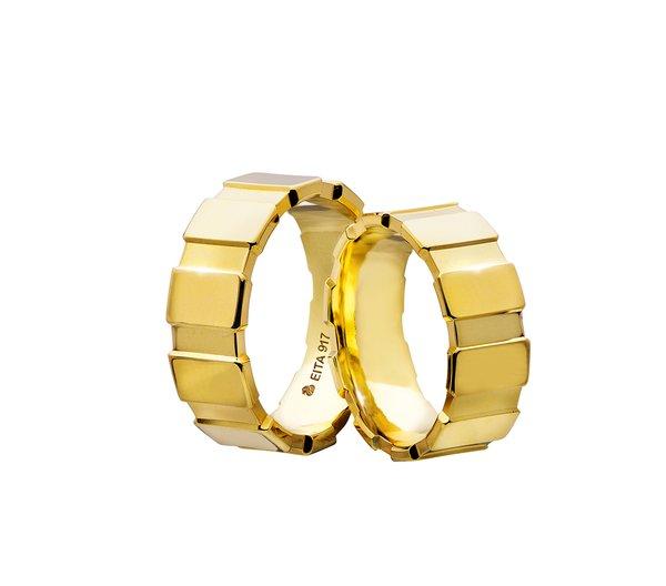 EITA Collection 917 Yellow Gold Wedding Ring C2-06