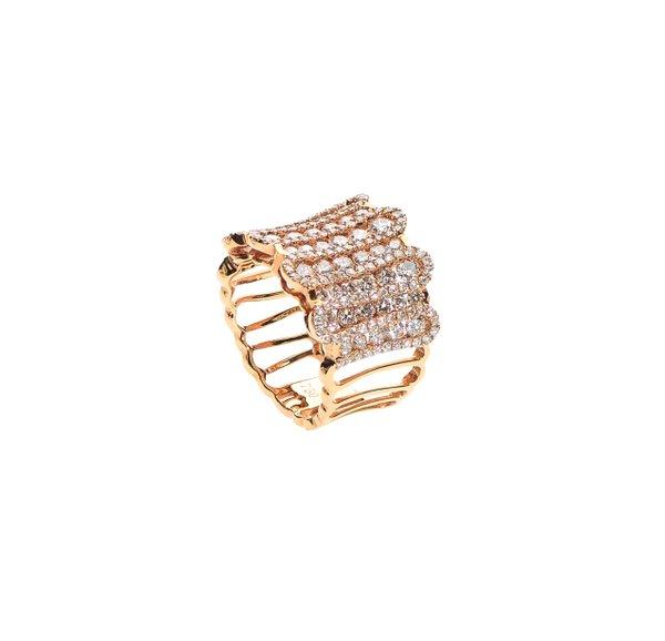 750 Rose Gold Diamond Ring D3-004