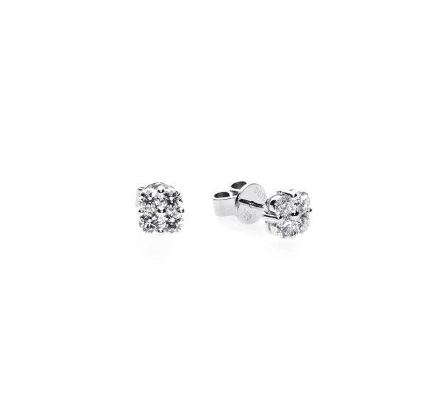 750 White Gold Diamond Earring D3-014