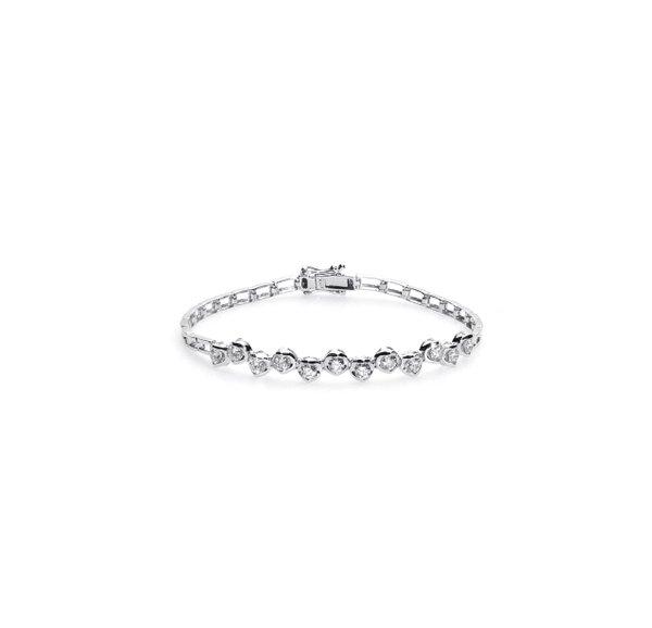 750 White Gold Diamond Bracelet D3-018