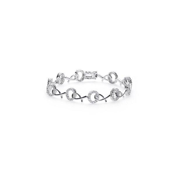 750 White Gold Diamond Bracelet D3-019