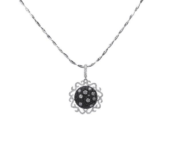 750 White Gold Diamond Pendant