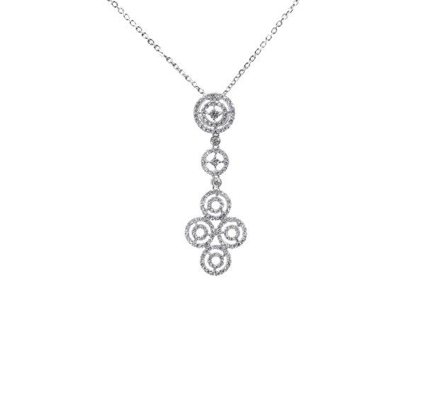 750 White Gold Diamond Pendant 3DP00238