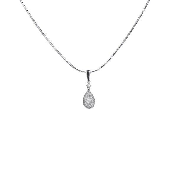 750 White Gold Diamond Pendant 3DP00288