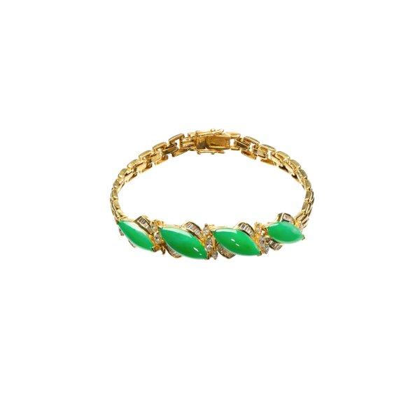 850 Gold Jade Bracelet 3JC00024