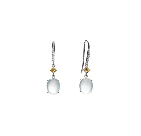 750 White Gold Icy Jade Earring 3JE00091