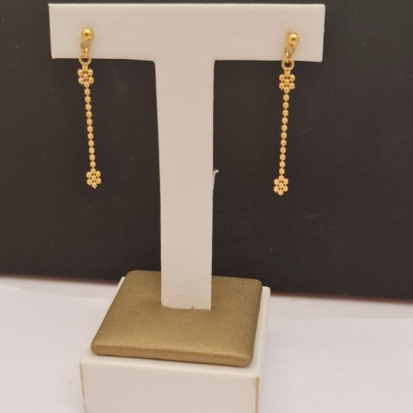 EITA Collection 917 Yellow Gold Dangling Two Plum Earring K-44