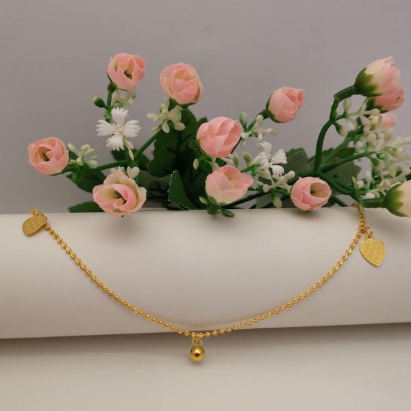 916 Gold Adult Anklet ( 3HA01024 )