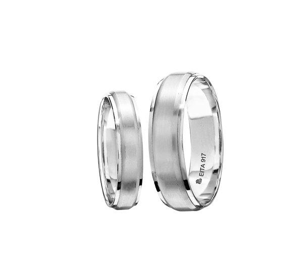 EITA Collection 917 White Gold Wedding Ring B-26