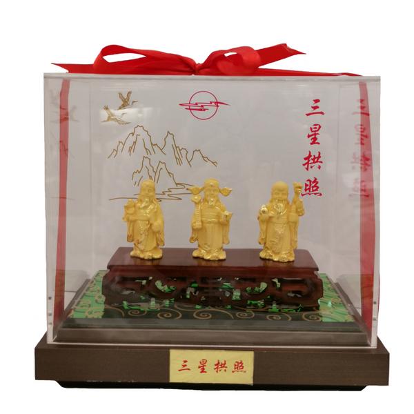 999 Pure Gold Fu Lu Shou Samsung Ornaments