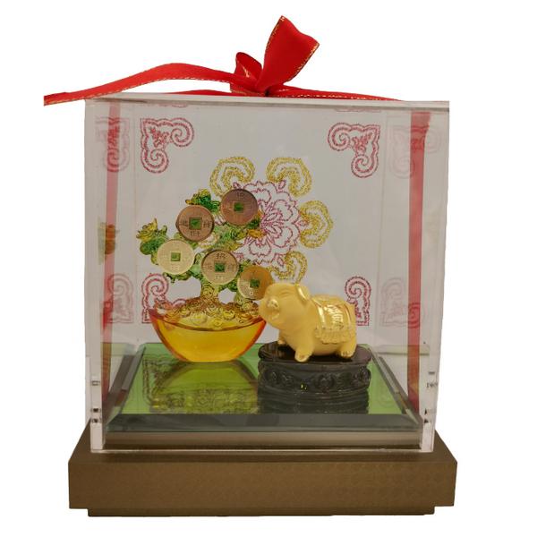 999 Pure Gold Golden Pig Ornament