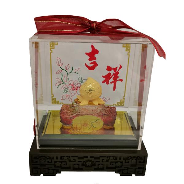 999 Pure Gold Shou Tao Ornaments