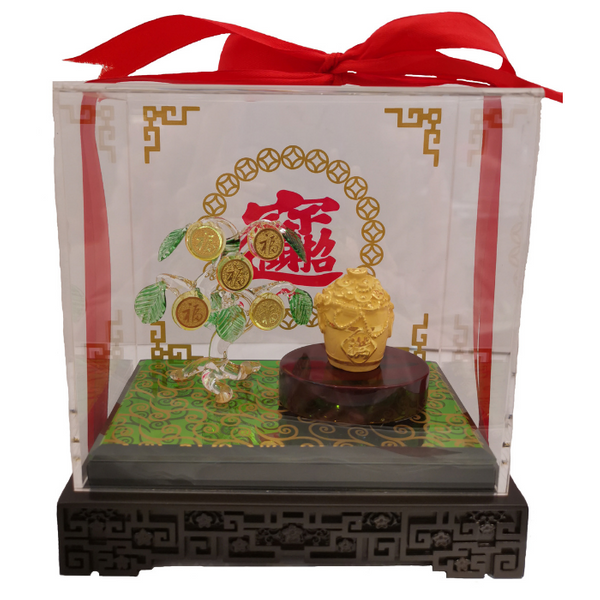 999 Pure Gold Rice Bucket Ornaments