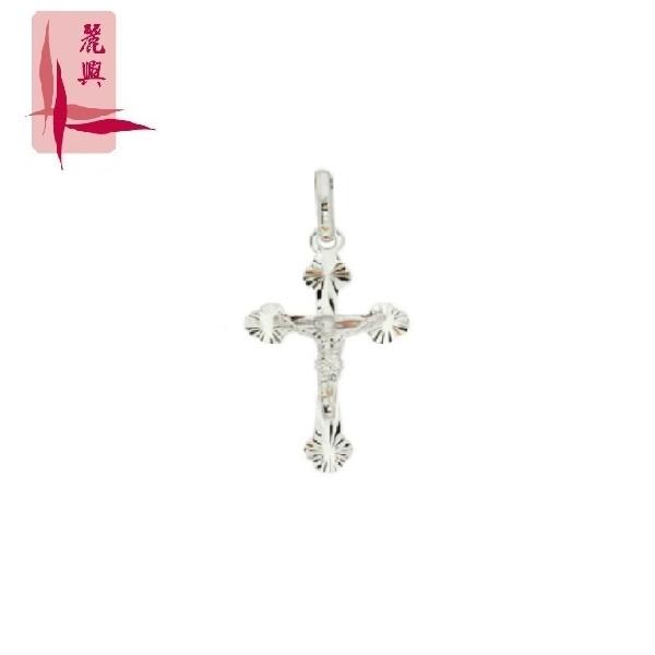 18K White Gold Folding Jesus Cross Pendant