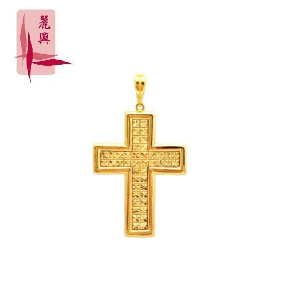 916 Gold Big Cross Pendant