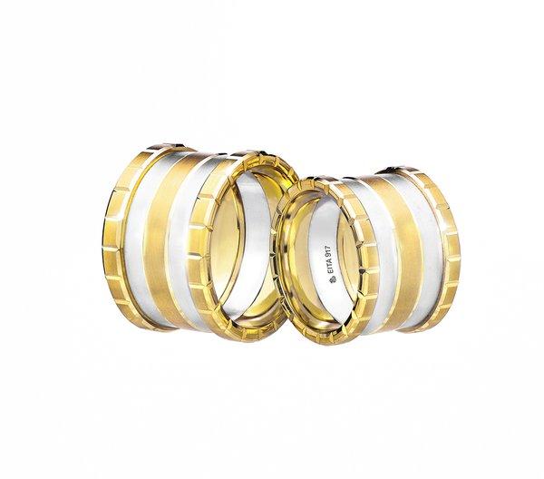 EITA Collection 917 Yellow/White Gold Wedding Ring R-03