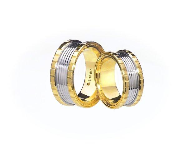 EITA Collection 917 Yellow/White Gold Wedding Ring E-02