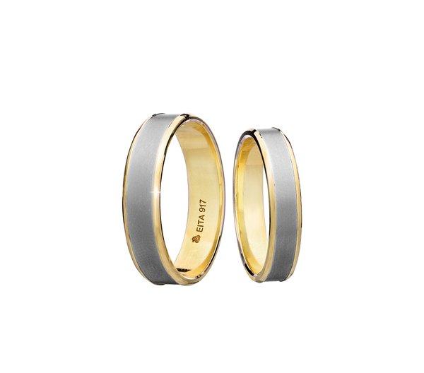 EITA Collection 917 Yellow/White Gold Wedding Ring B-12