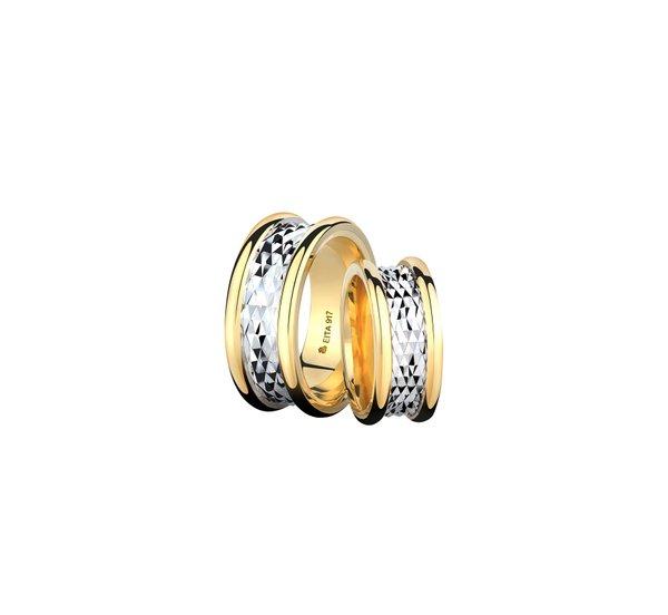 EITA Collection 917 Yellow/White Gold Wedding Ring E-09