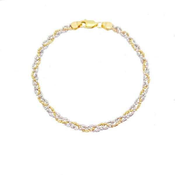916 Gold 2 Tone Braid Bracelet