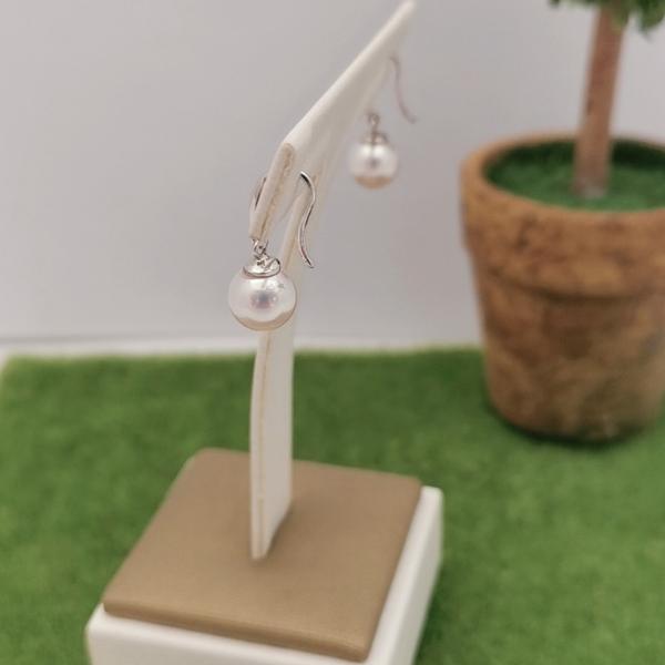 18K White Gold Pearl Ear Hook 3ME00010