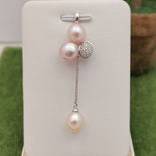 18K White Gold Pearl With Diamond 3MP00030