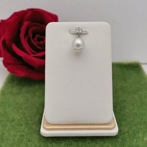 18K White Gold Pearl With Diamond 3MP00189