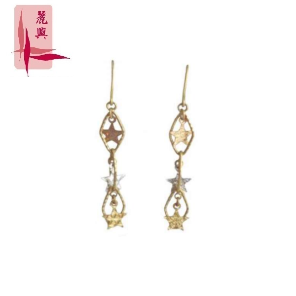 18K Rose/White And Yellow Gold Earrings 3YM00296