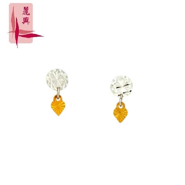 18K White/Rose Gold Earrings 3YM00593