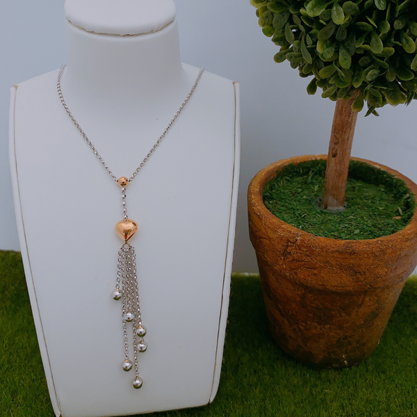 18K Rose Gold and White Gold Necklace 3YM01036