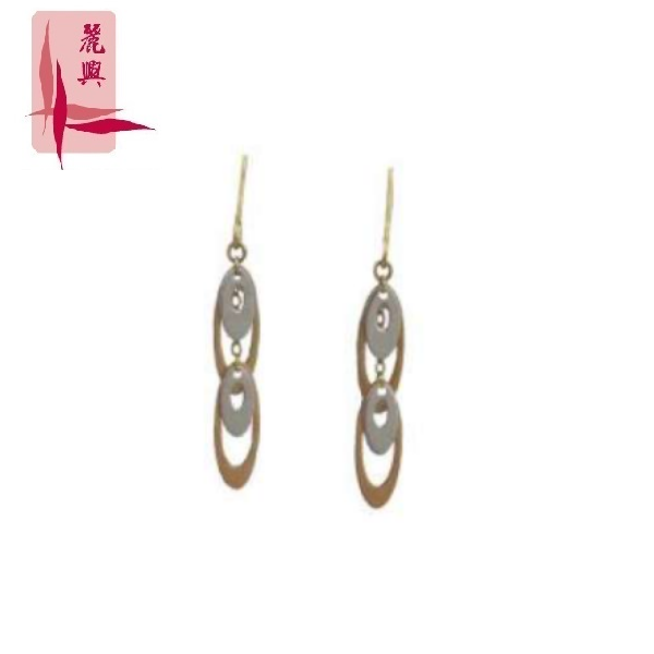 18K White Gold and Gold Combination Earring 3YM01060