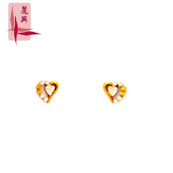 18K Yellow/White/Rose Earrings 3YM01345
