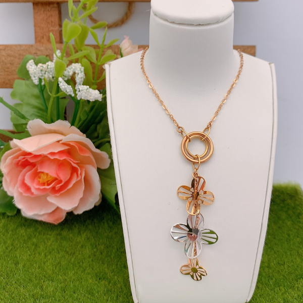 18K Rose Gold and White Gold Necklace 3YM01622