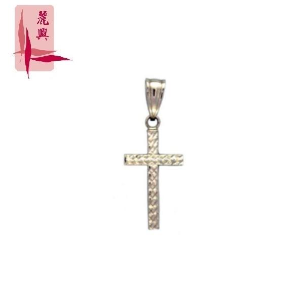 18K White Gold Cross Pendant 3YM01969