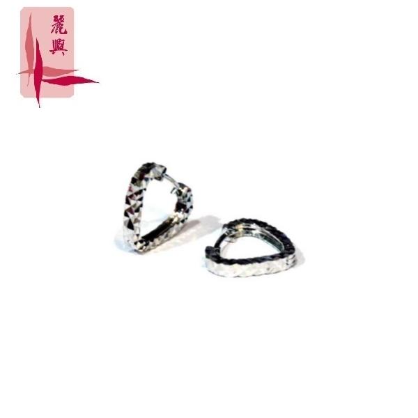 18K White Gold Earrings 12mm 3YM02486