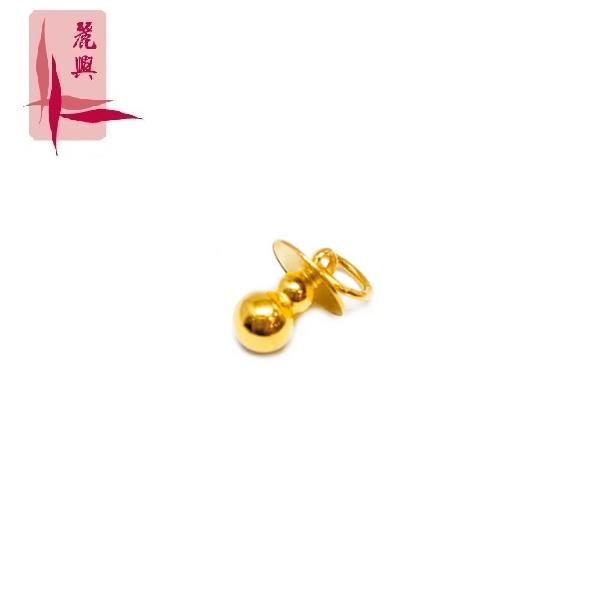 916 Gold Nipple Pendant