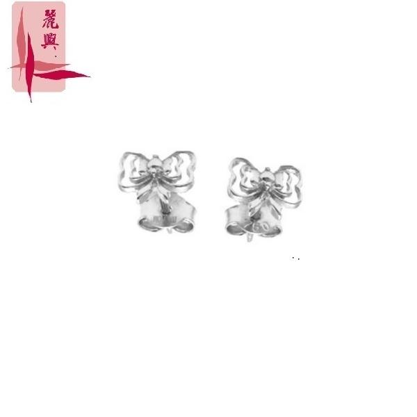 18K Gold Double Bow Earring