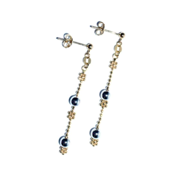 EITA Collection 917 Yellow/White Gold Dangling Earring 3HE01227