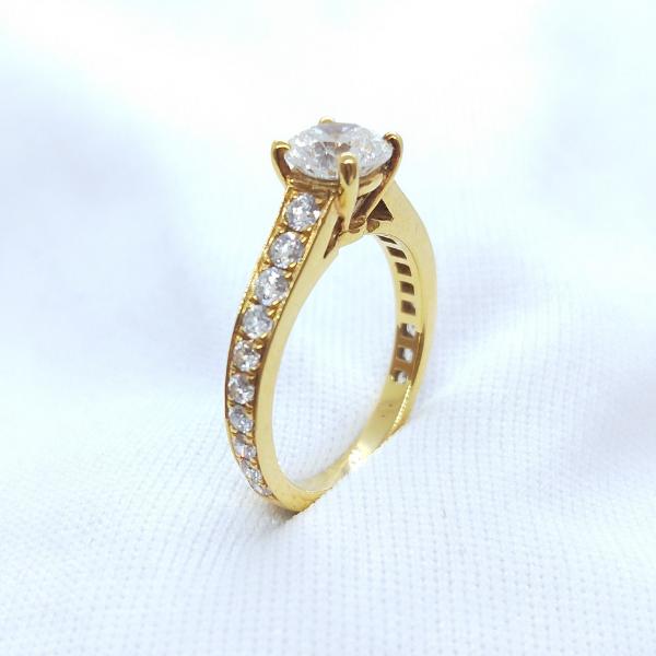 18K Yellow Gold Diamond Ring 3DR00391