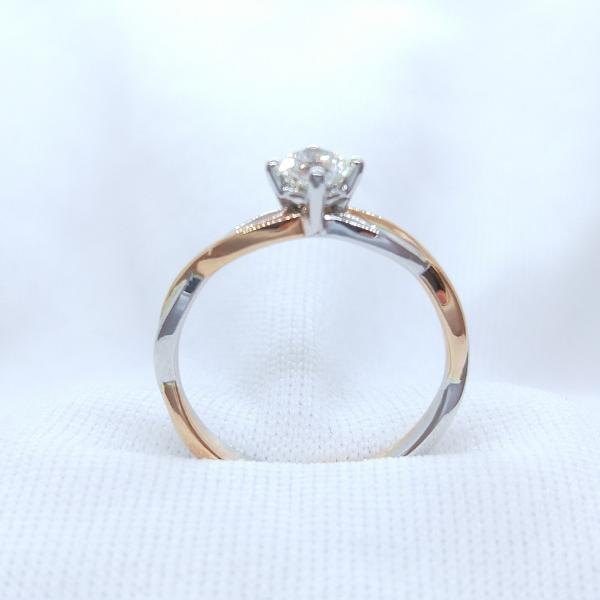 18K Rose/White Gold Diamond Ring 3DR00551