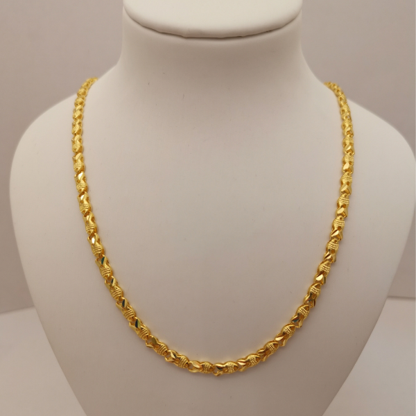 999 Pure Gold Hollow Fish Necklace