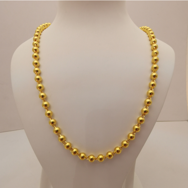 999 Pure Gold Light Bead Necklace