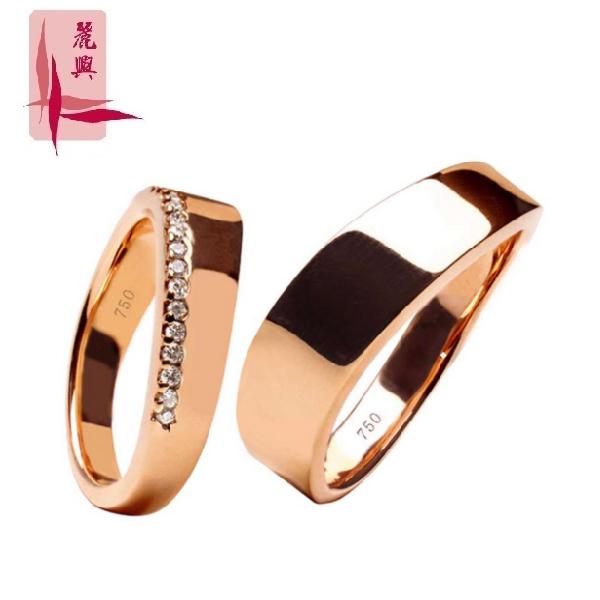 18K Rose Gold Diamond Wedding Ring DRR-002